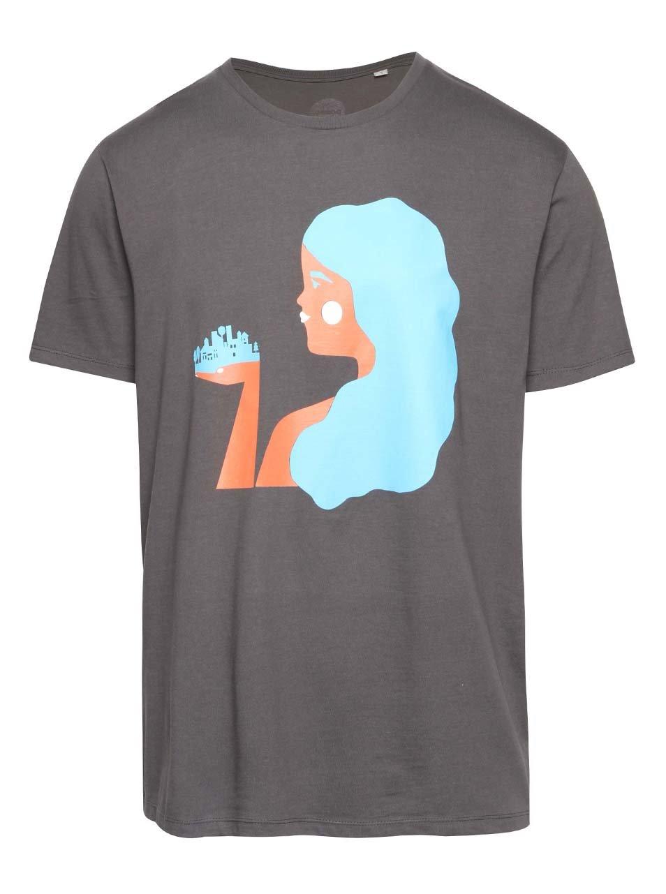 """""""Dobré"""" šedé pánské tričko pro Zažít město jinak"""