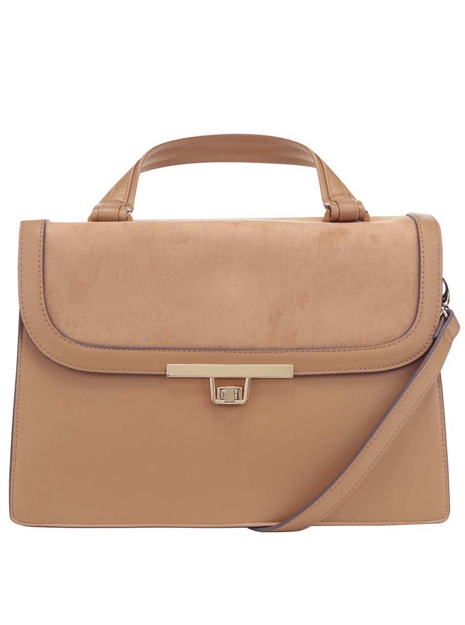 Béžová kabelka s popruhem Dorothy Perkins