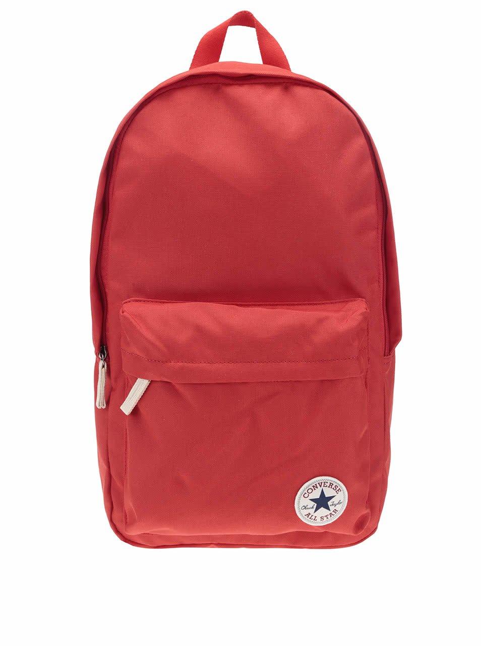 Červený batoh s logem Converse Core Poly