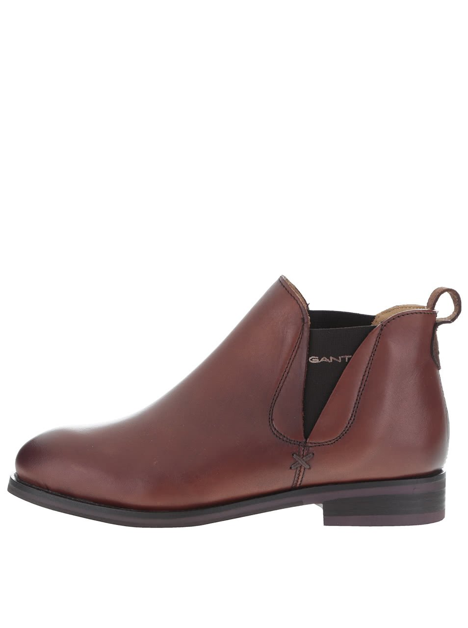 Hnědé dámské kožené kotníkové boty GANT Avery