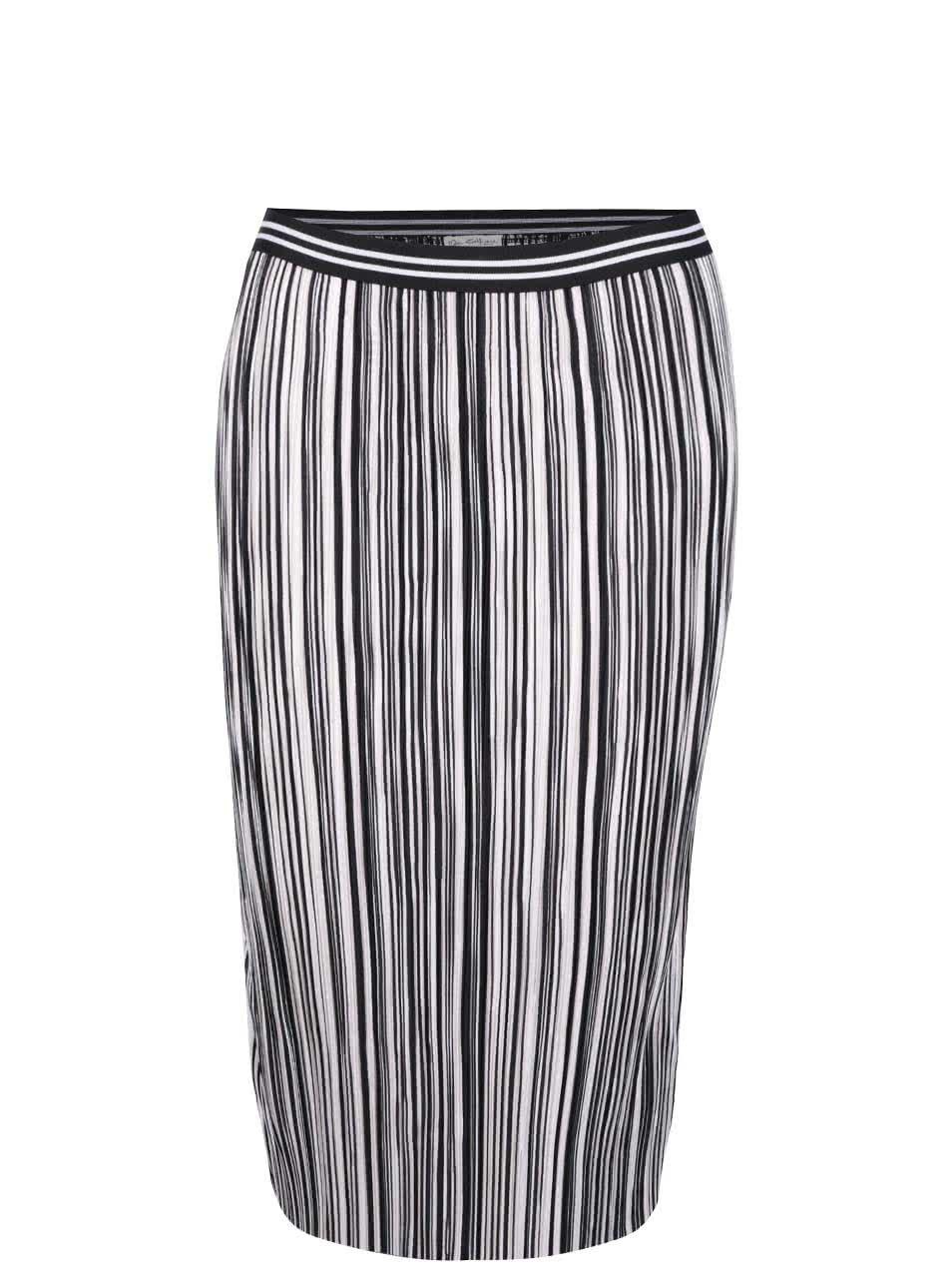 Černo-bílá plisovaná sukně Miss Selfridge