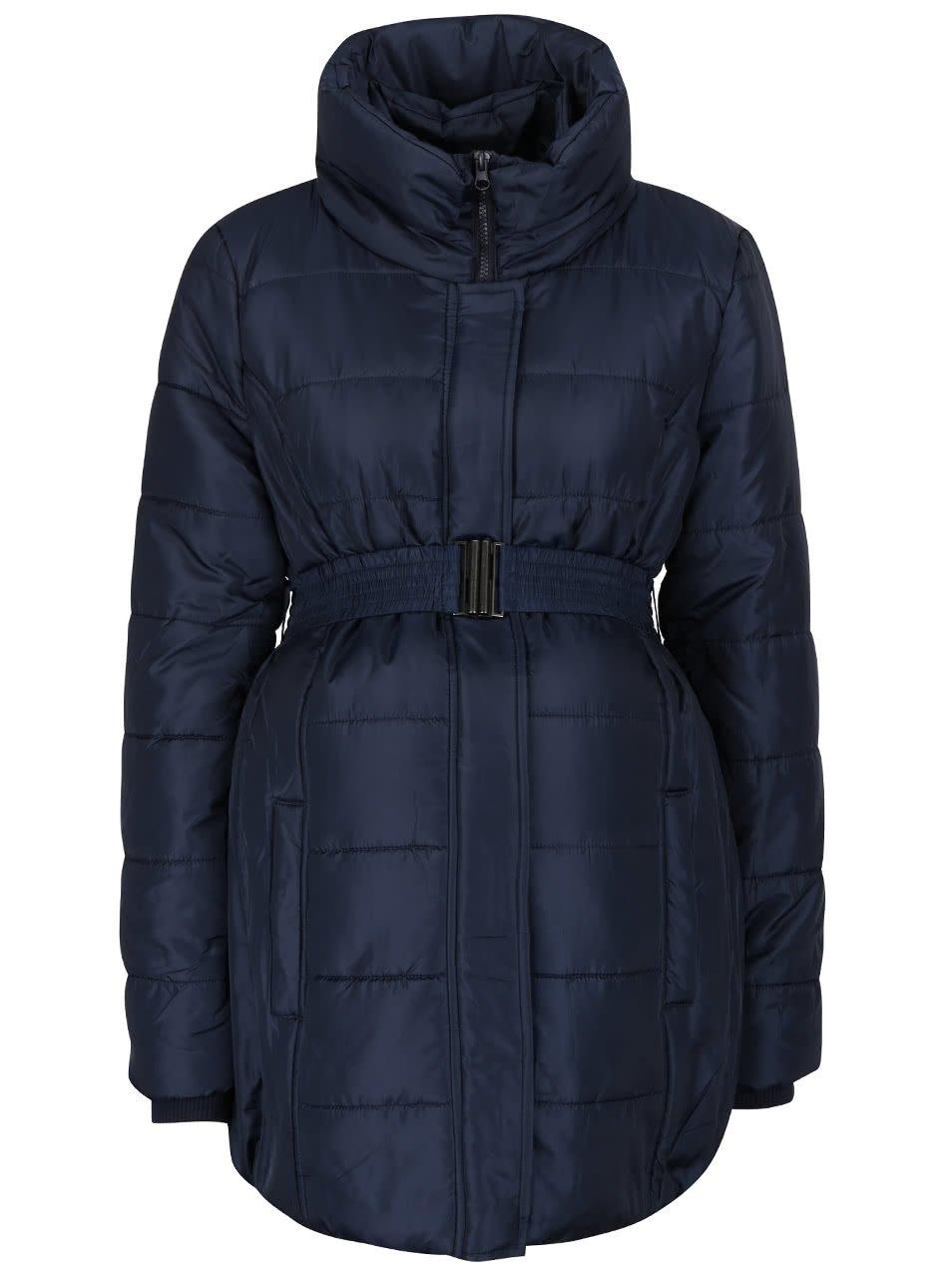 Tmavě modrý těhotenský kabát Mama.licious Quilty