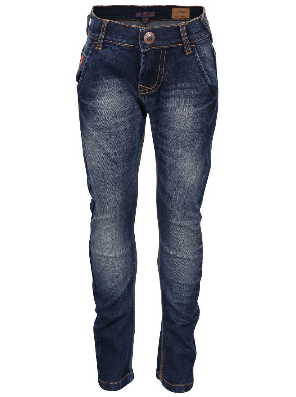 Tmavě modré klučičí džíny s vyšisovaným efektem Cars Jeans Salva