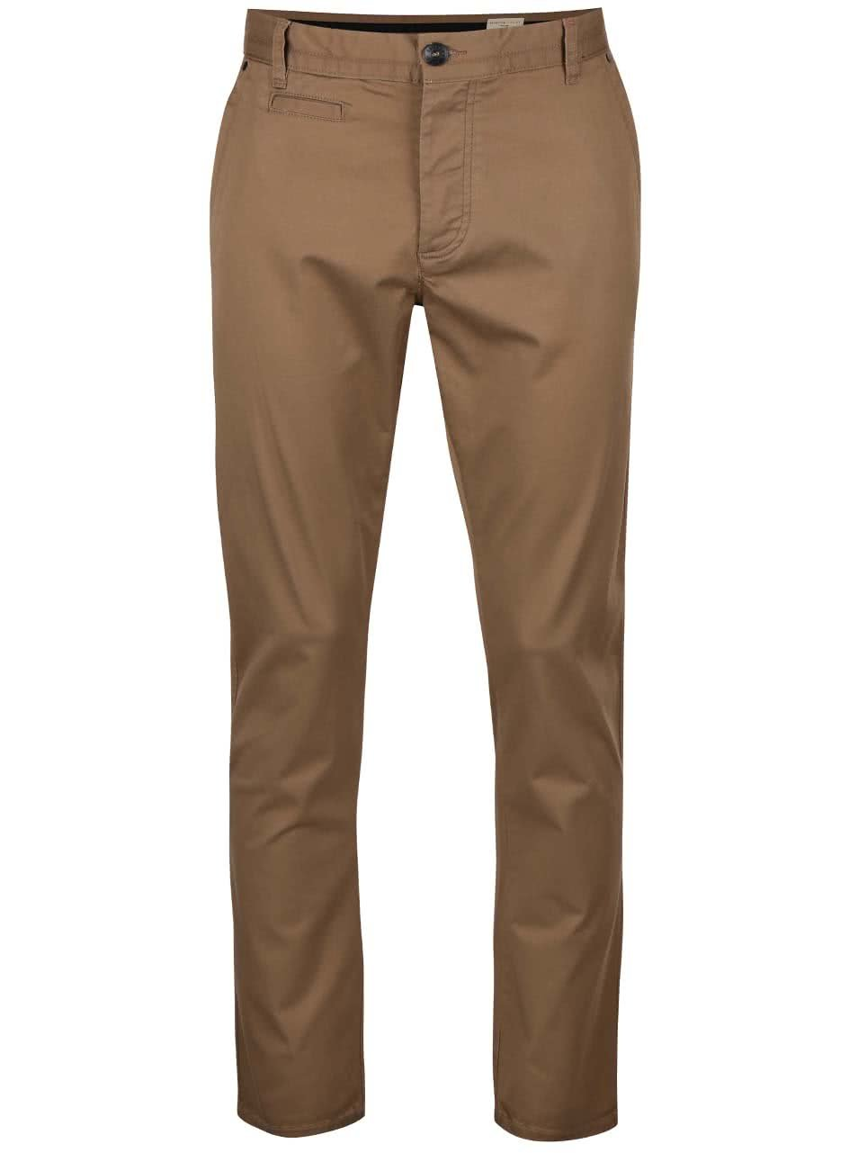 Hnědé chino kalhoty Selected Homme Two Store