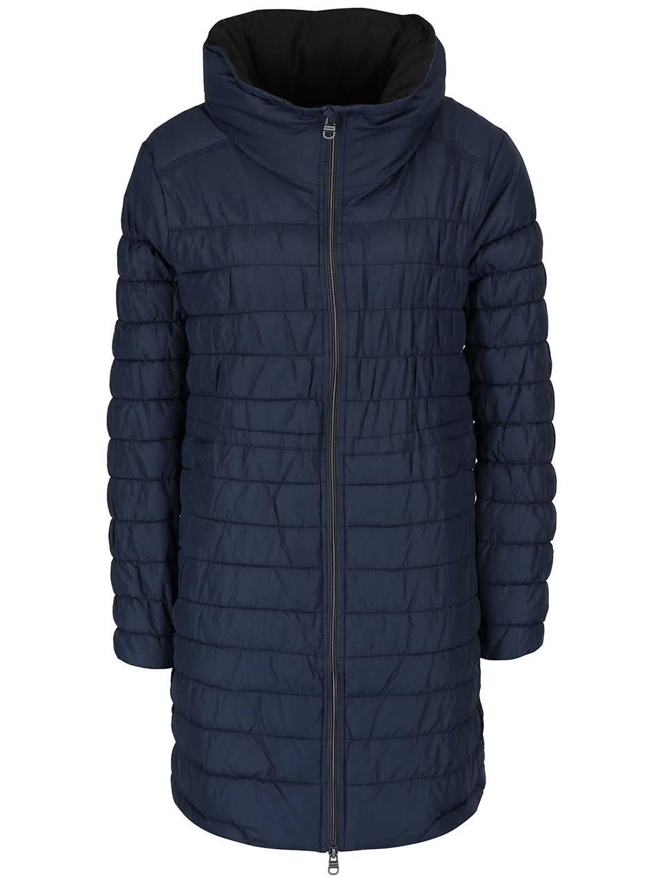 Tmavě modrý dámský prošívaný kabát Bench Succinct