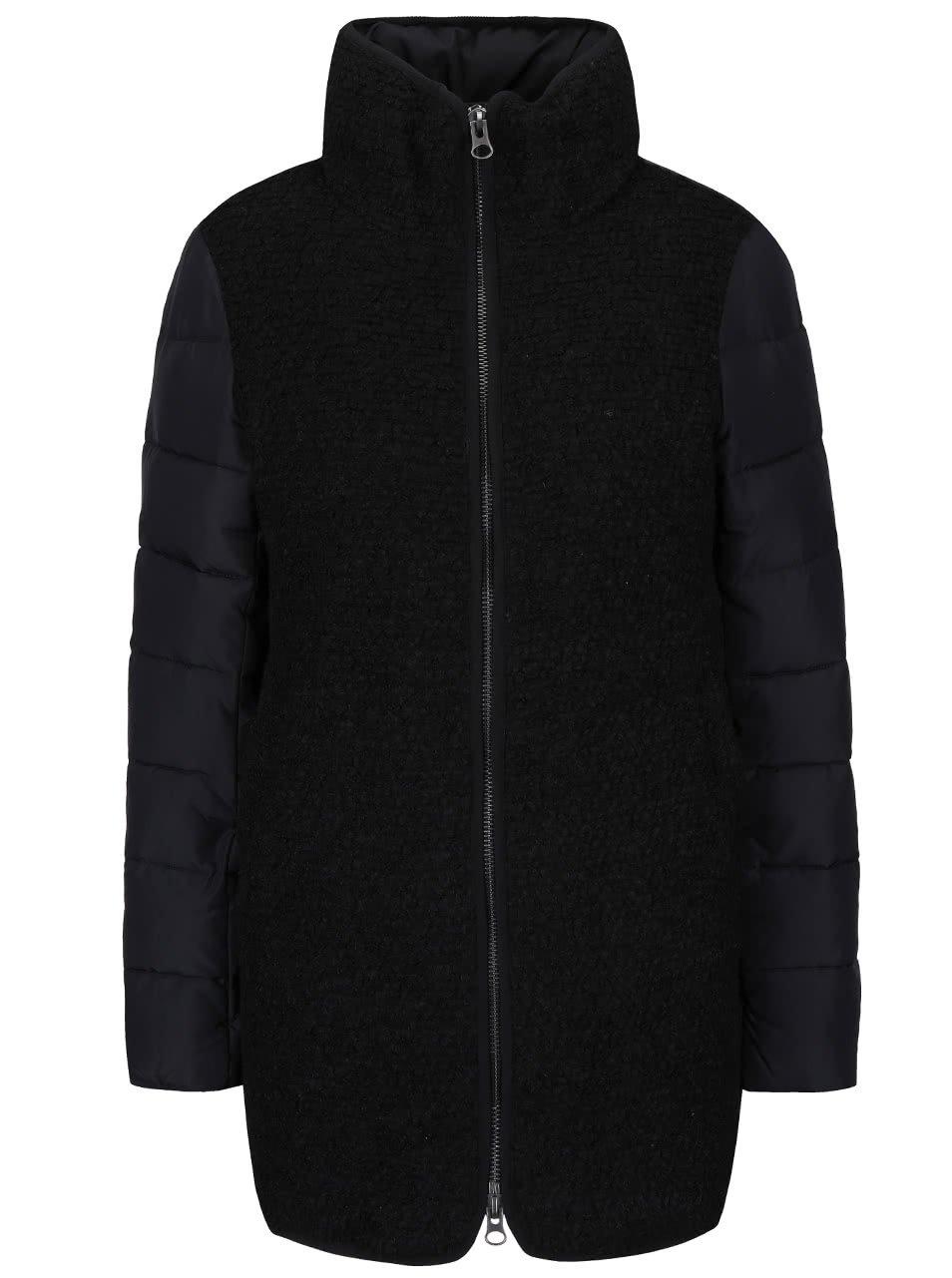 Černý kabát ICHI Tazzi