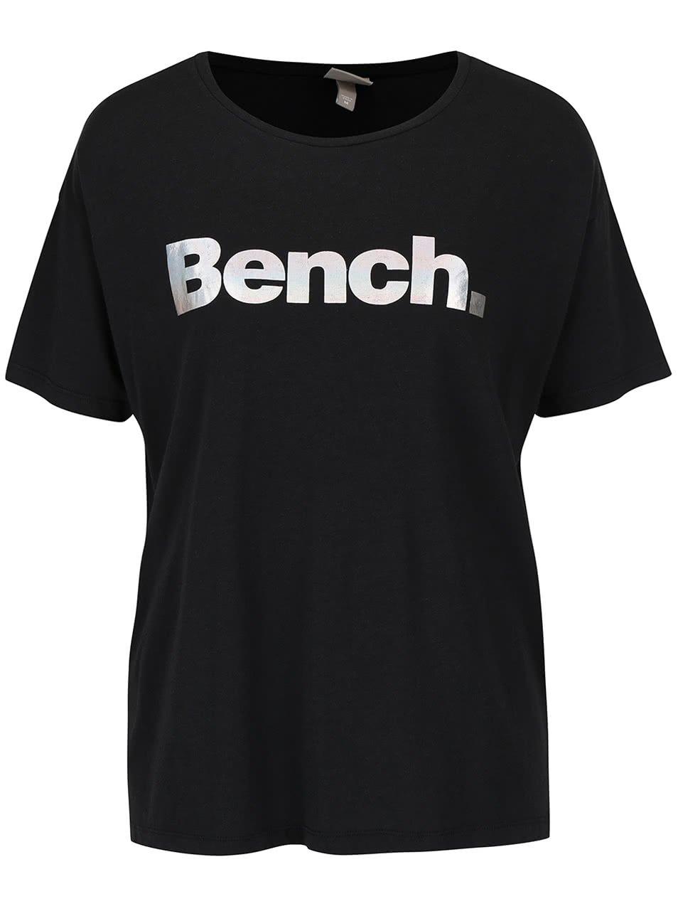 Černé dámské tričko s potiskem Bench Prosaic