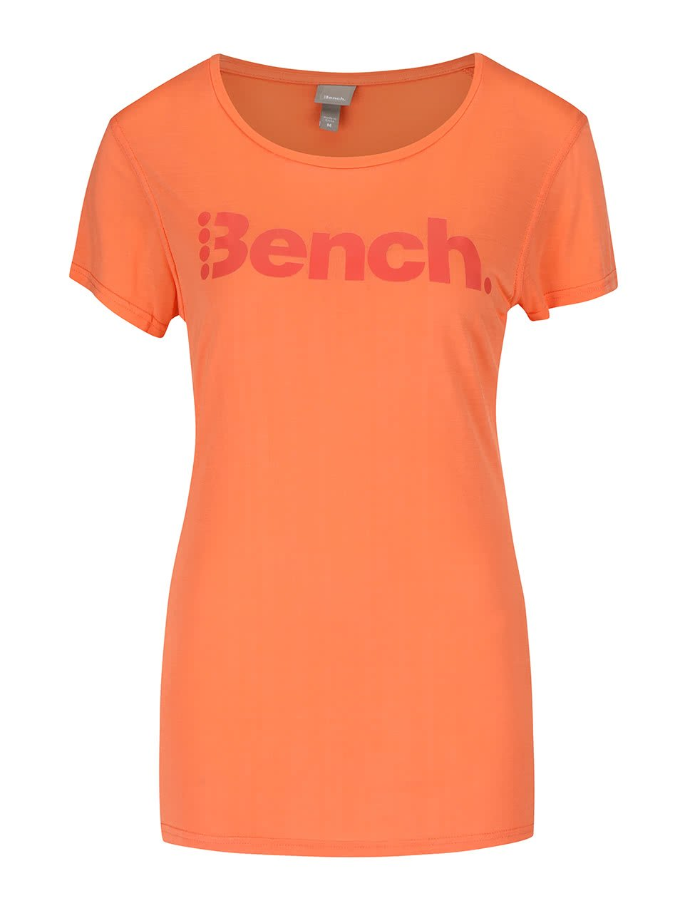 Oranžové dámské tričko s potiskem Bench Expate