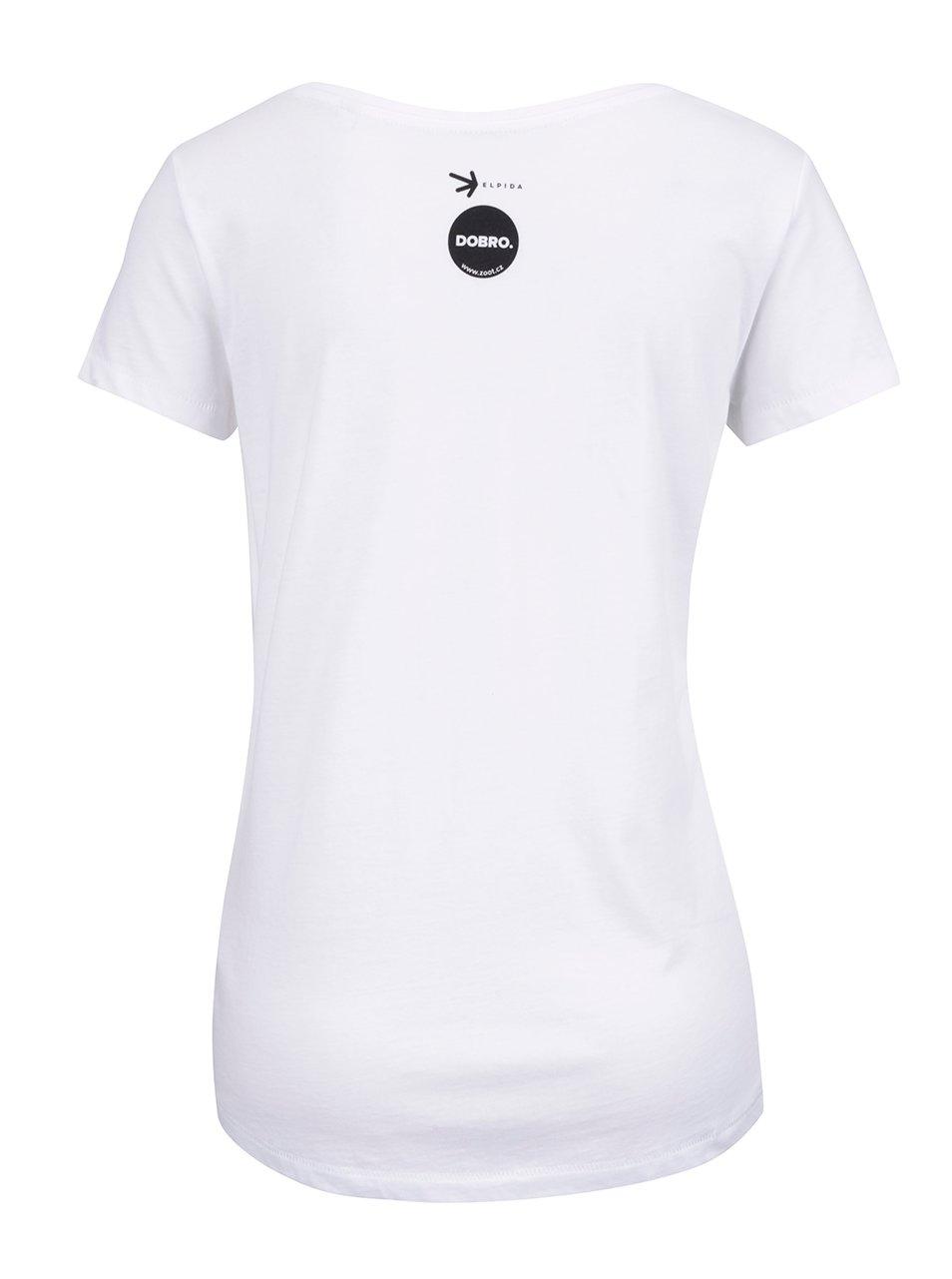 """Dobré"" bílé dámské tričko Elpida"