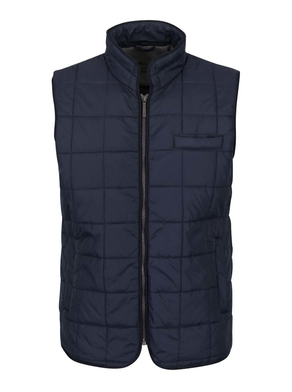 Tmavě modrá pánská prošívaná vesta Seven Seas