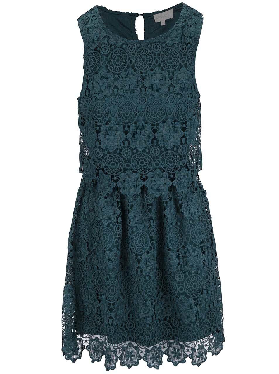 Zelené krajkované šaty Apricot
