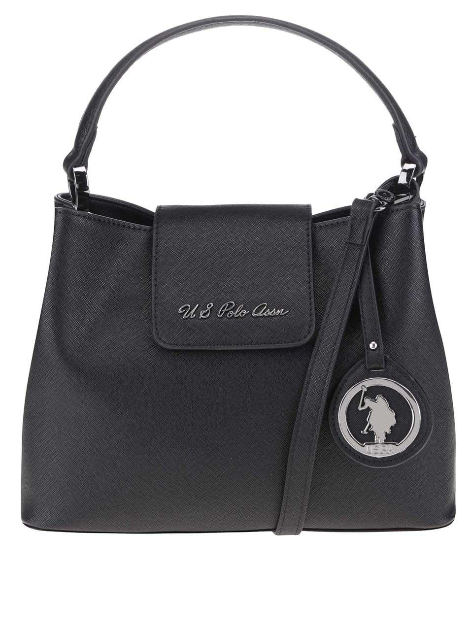 Černá kabelka se zapínáním na magnet U.S. Polo Assn