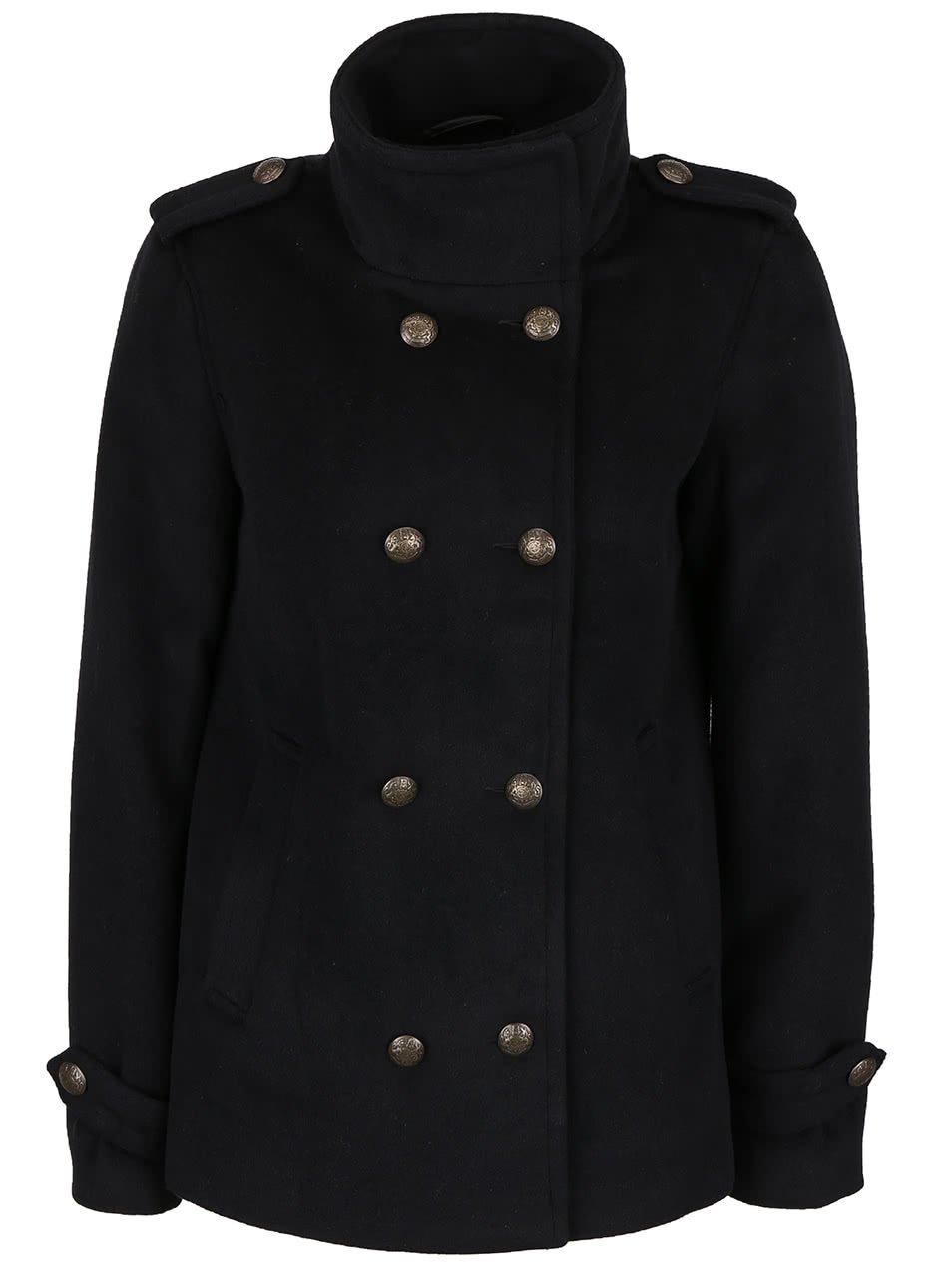 Černý kratší kabát Vero Moda Abelle