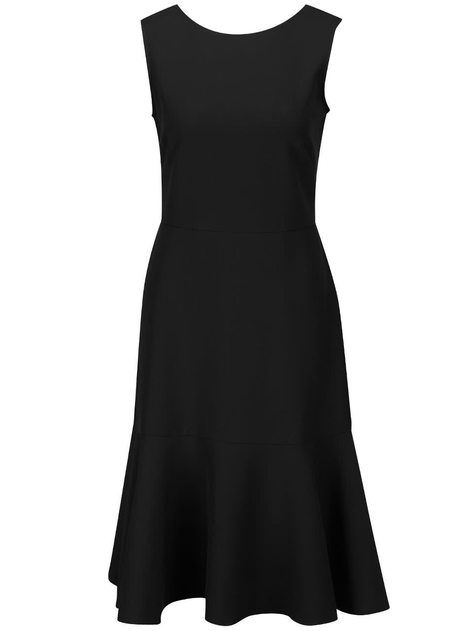 Černé šaty s volánem Closet