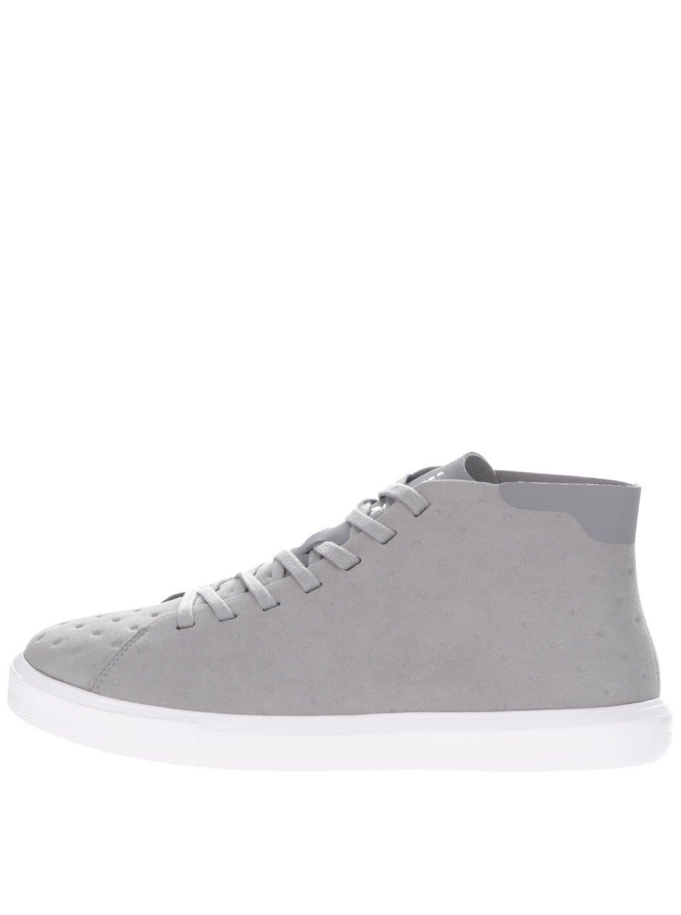 Šedé pánské kotníkové boty Monaco Native