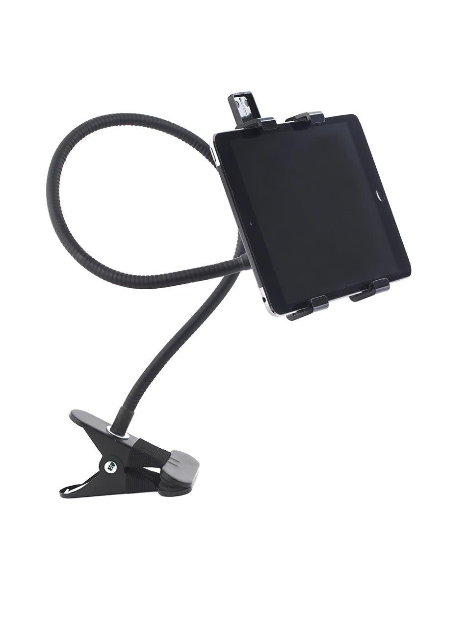 Černý ohebný držák na tablet Kikkerland