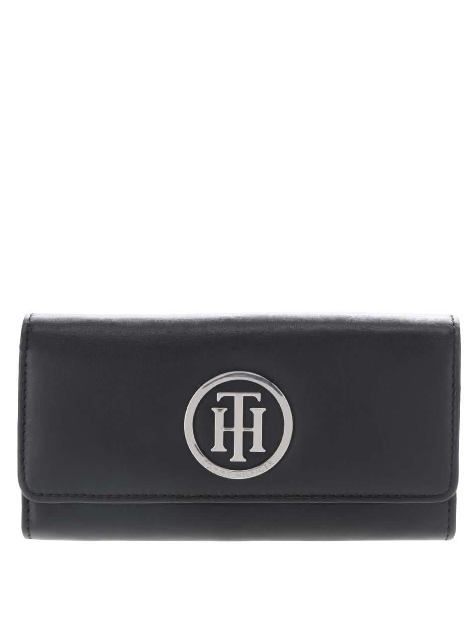 Černá kožená dámská peněženka Tommy Hilfiger