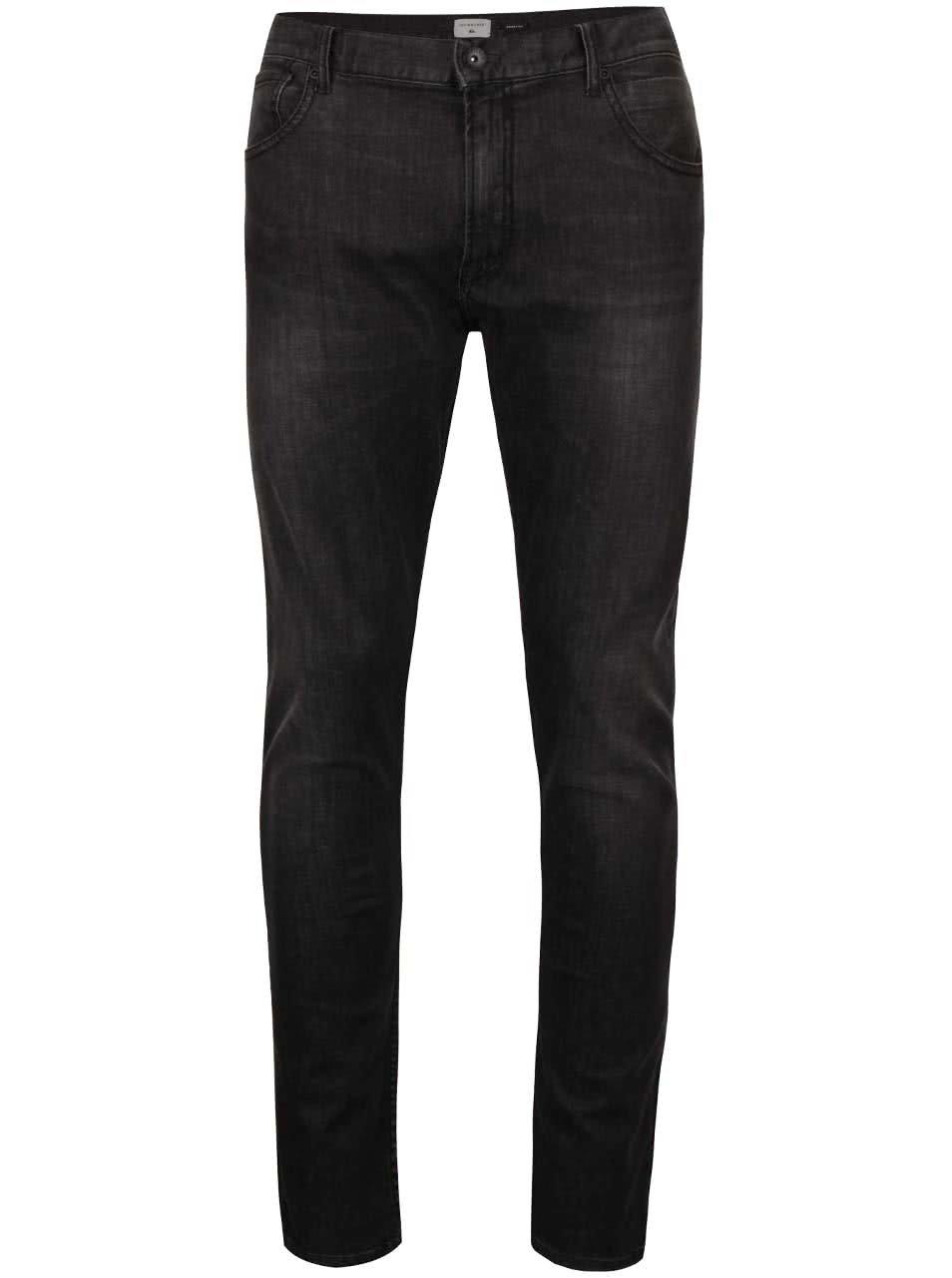 Černé pánské džíny s vyšisovaným efektem Quiksilver Killingzone