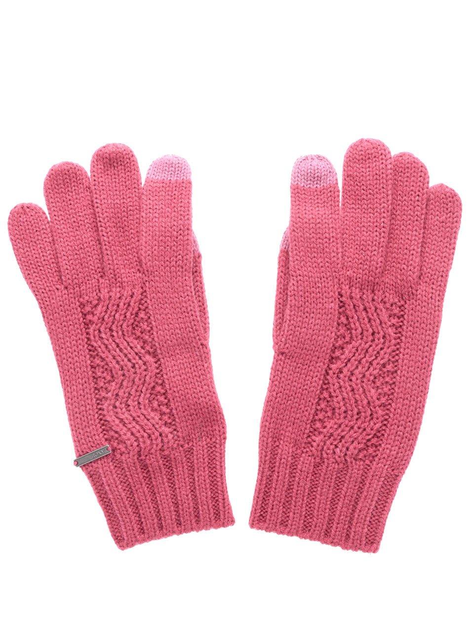 Růžové rukavice Roxy Stay