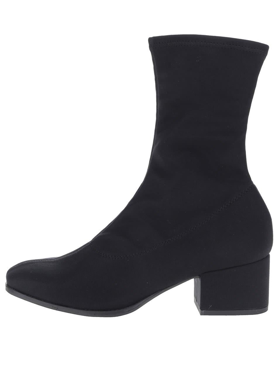 Černé dámské elastické kotníkové boty Vagabond Daisy