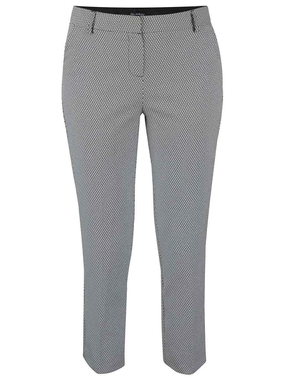 Černo-krémové vzorované kalhoty Miss Selfridge