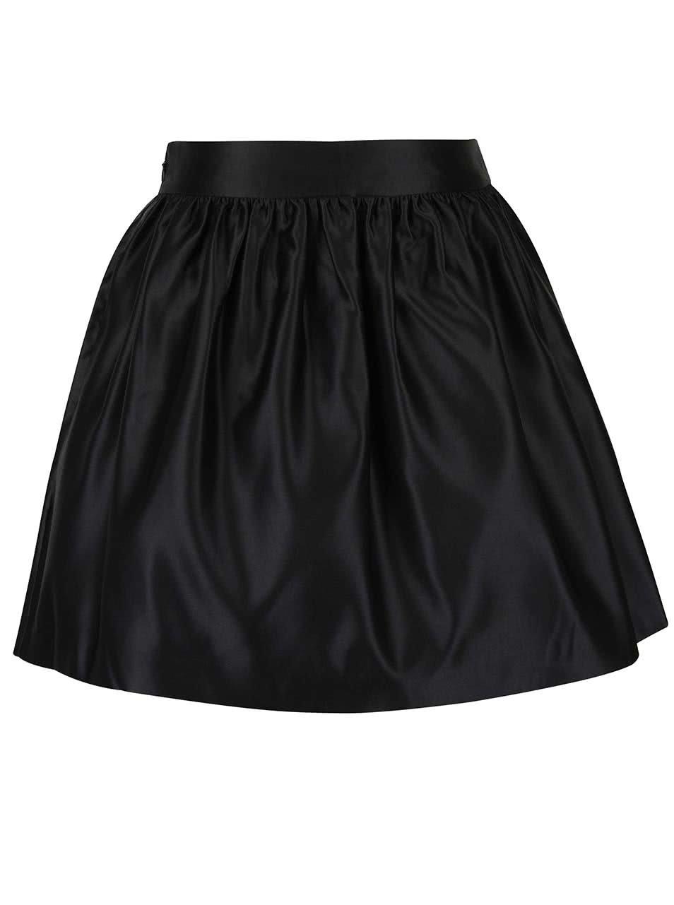 Černá lesklá sukně Miss Selfridge 20cbc3e166