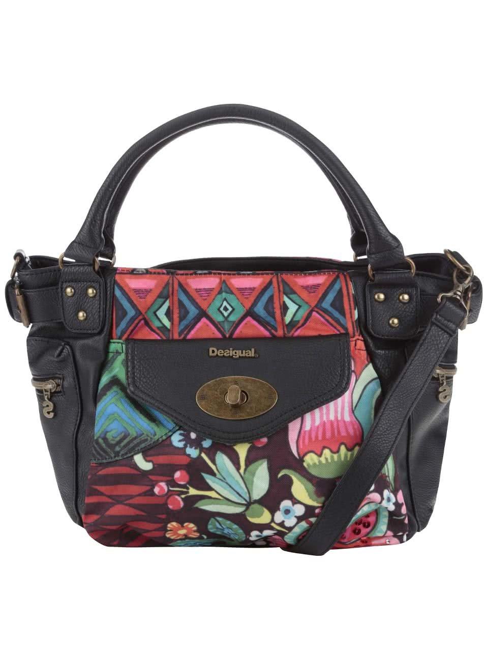 Černá kabelka s barevnými vzory Desigual McBee Ikara