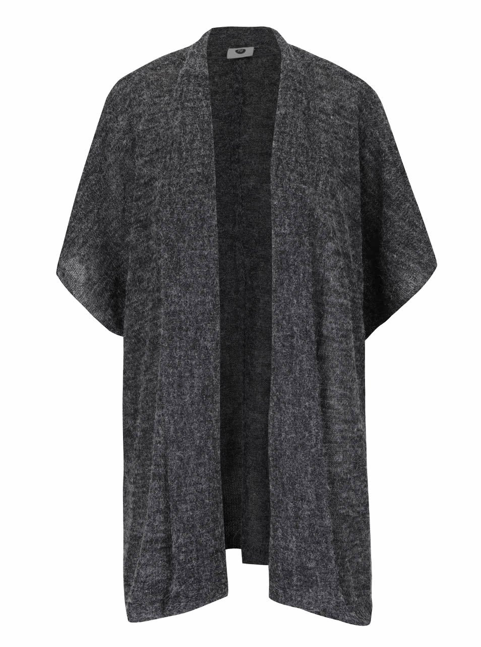 Tmavě šedý žíhaný dámský cardigan PEP Flannery