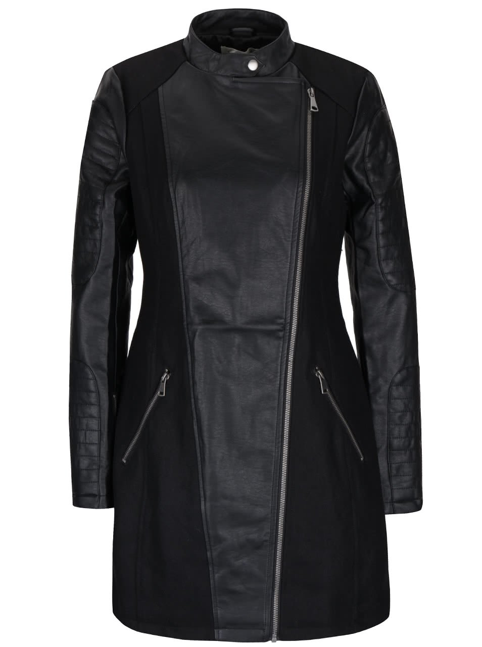Černý dámský kabát Desires Gedion
