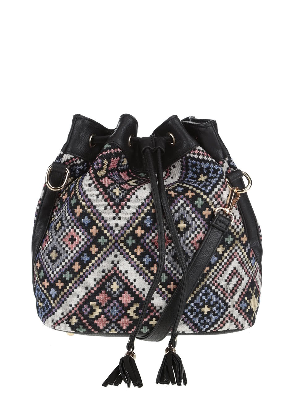 Černá crossbody kabelka s barevným vzorem Haily´s Lara