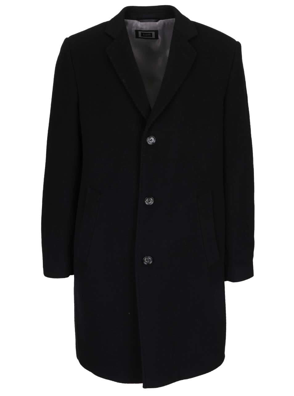 Černý pánský kabát bugatti