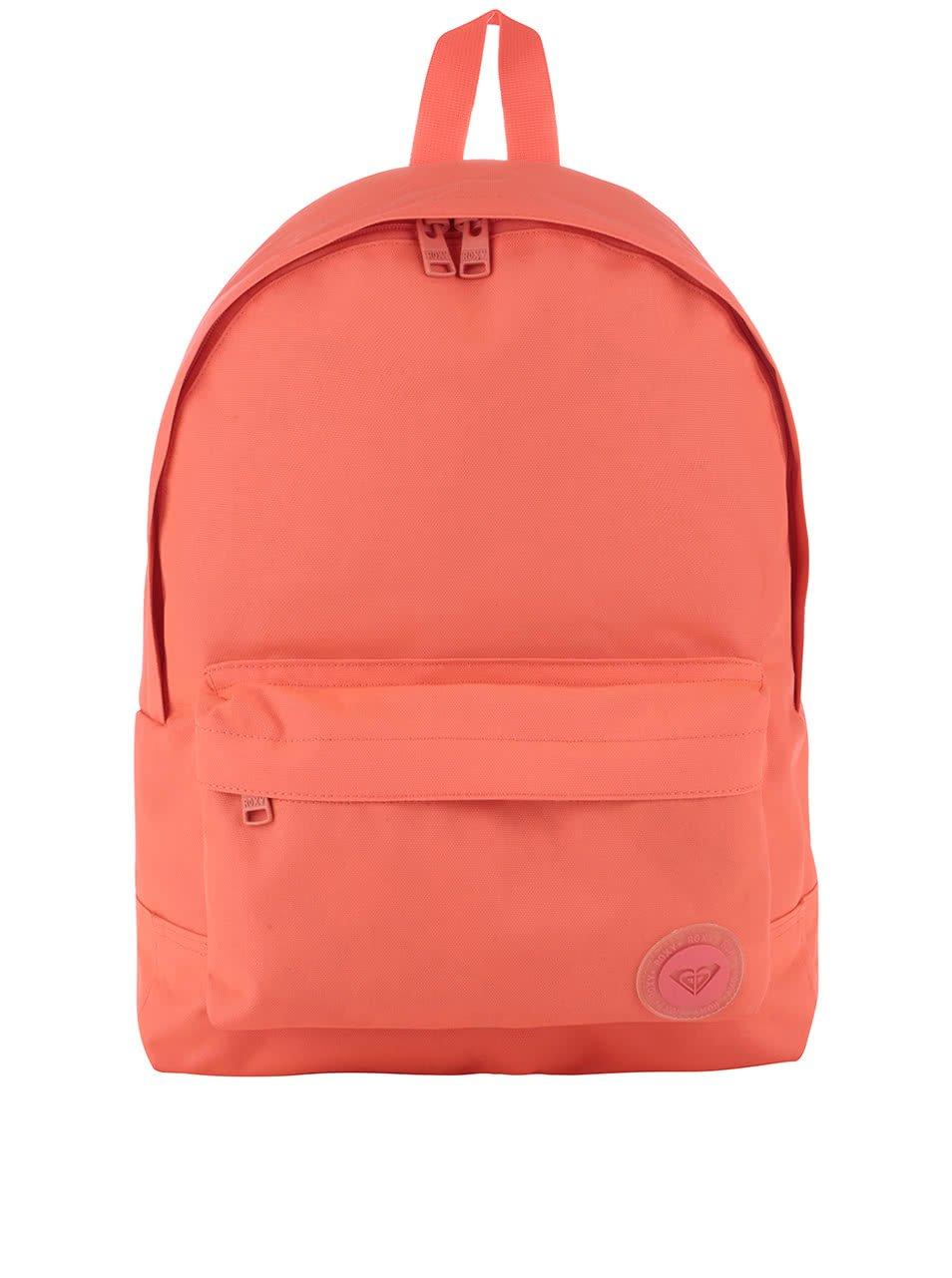 Neonově oranžový batoh Roxy Sugar