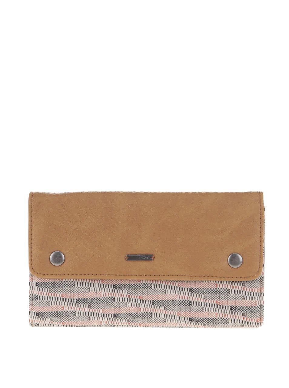 Krémovo-hnědá peněženka Roxy Fun