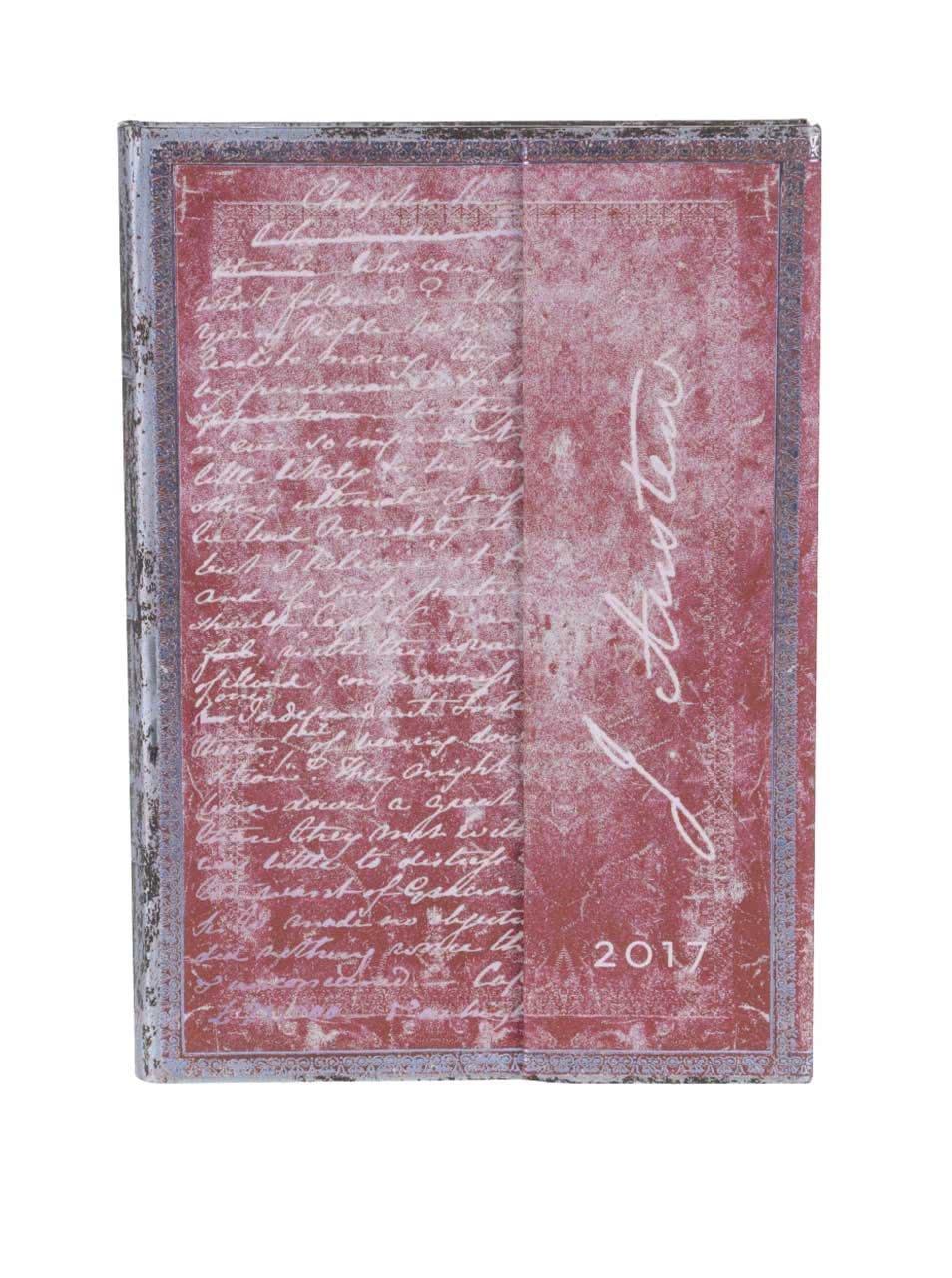Tmavě růžový diář na rok 2017 Paperblanks Jane Austen Midi