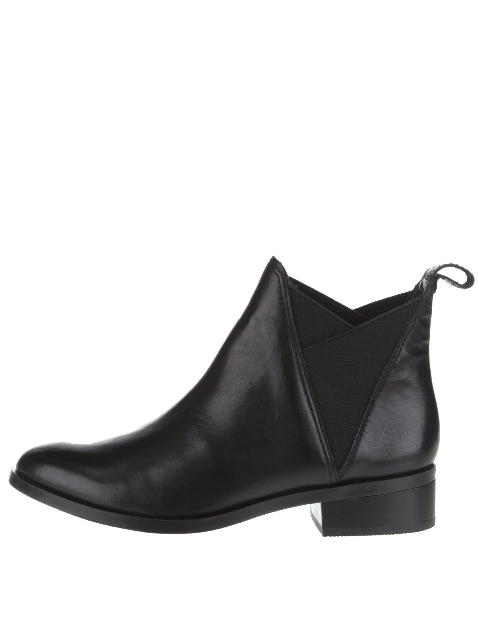 Černé kožené dámské chelsea boty ALDO Scotch
