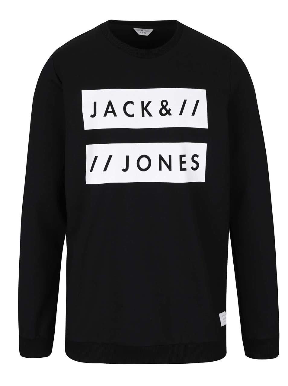 Černá mikina s nápisem Jack & Jones Box