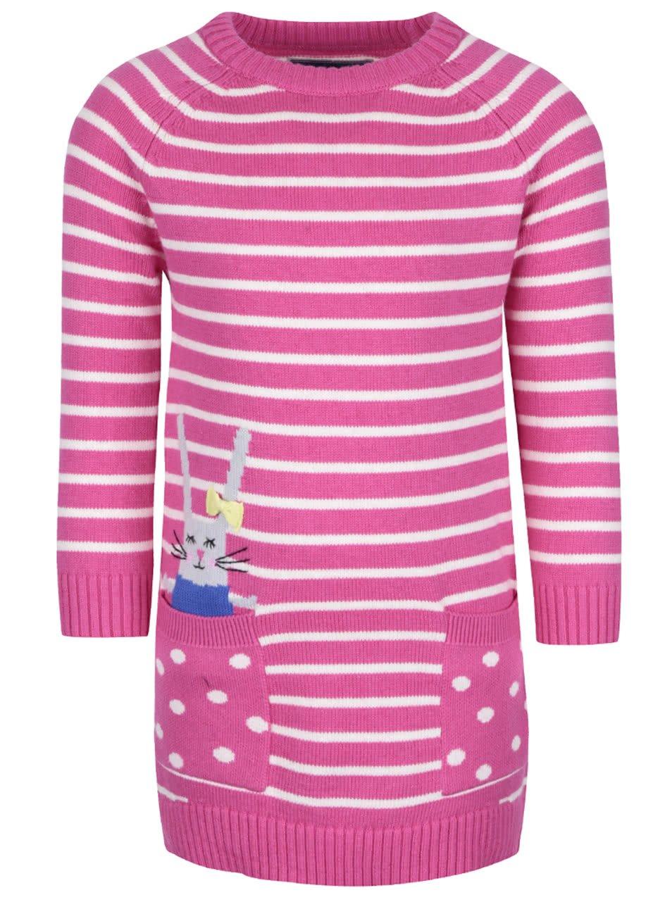 Růžové holčičí svetrové šaty Tom Joule Millicent