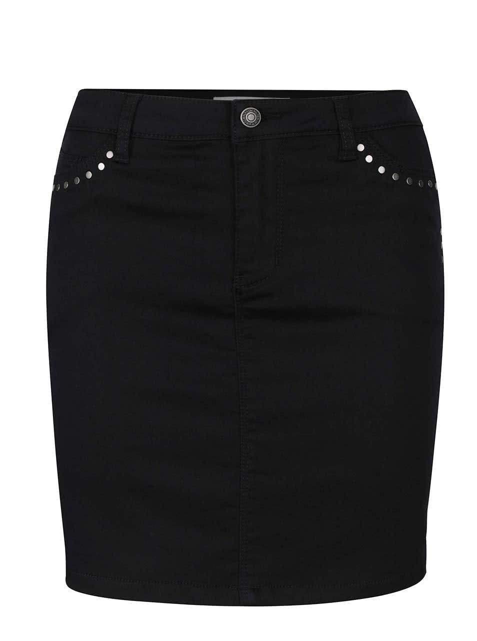 Černá minisukně s ozdobnými cvočky Vero Moda Flexit