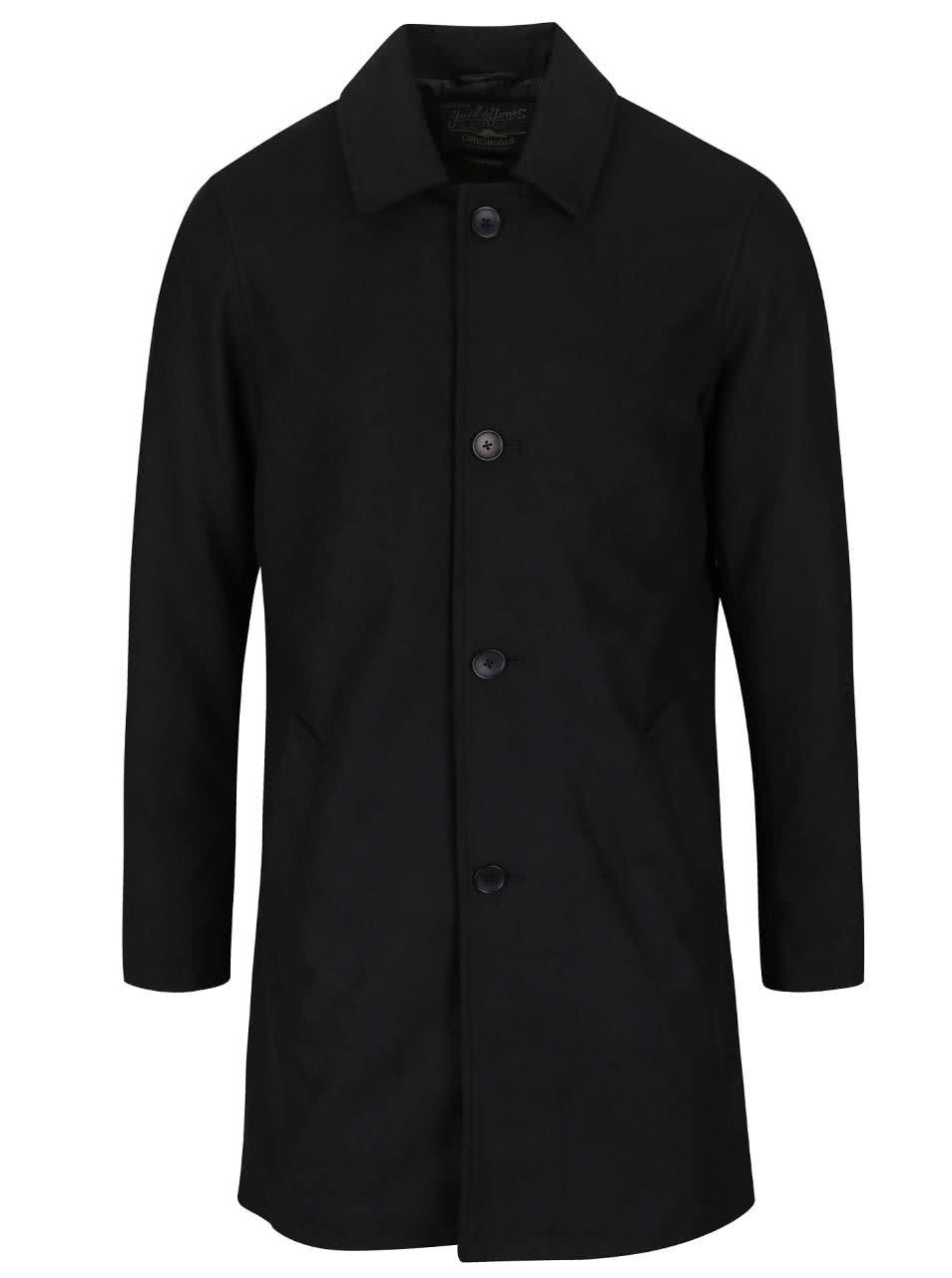 Černý kabát Jack & Jones City