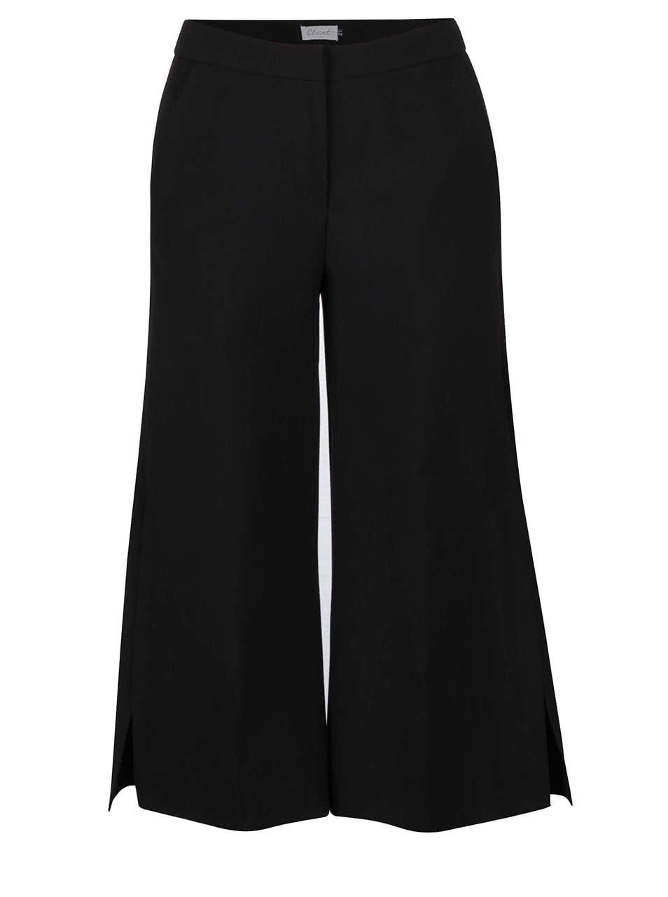 Černé culottes s kapsami Closet