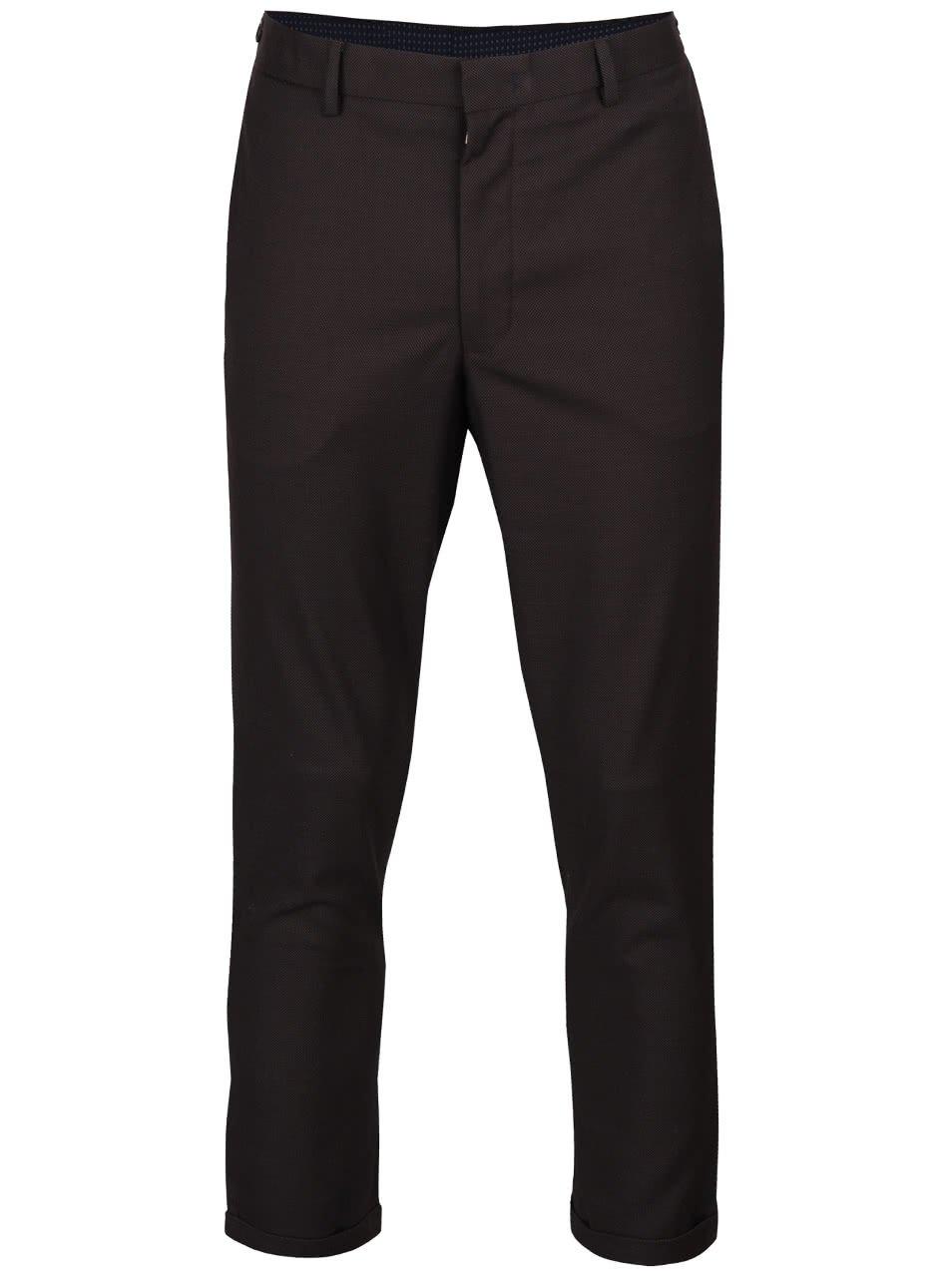 Šedohnědé skinny kalhoty s jemným vzorem Burton Menswear London