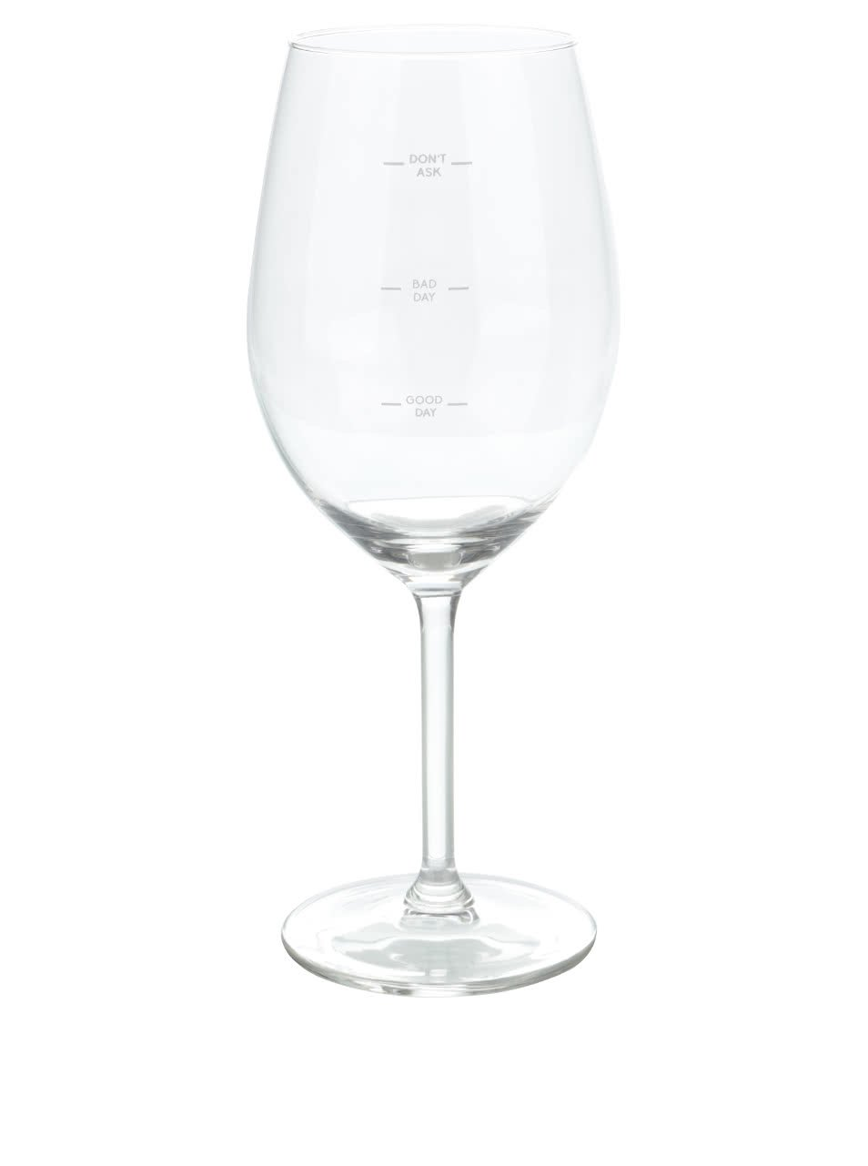 Sklenička na víno s ryskami Donkey Glass Of Moods