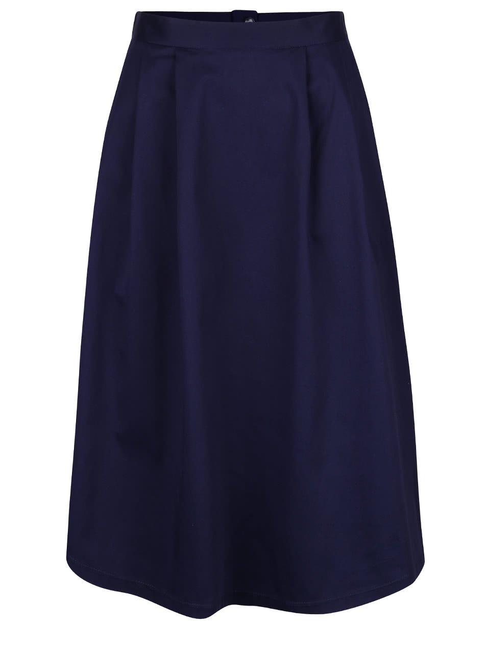 Tmavě modrá áčková sukně Dorothy Perkins