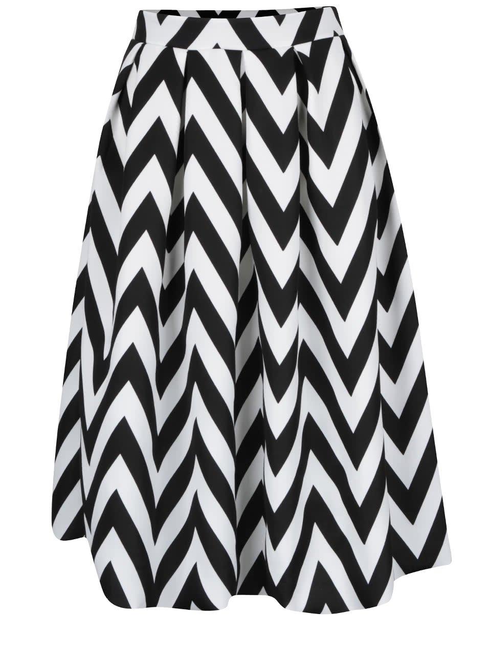 Krémovo-černá vzorovaná áčková sukně Dorothy Perkins