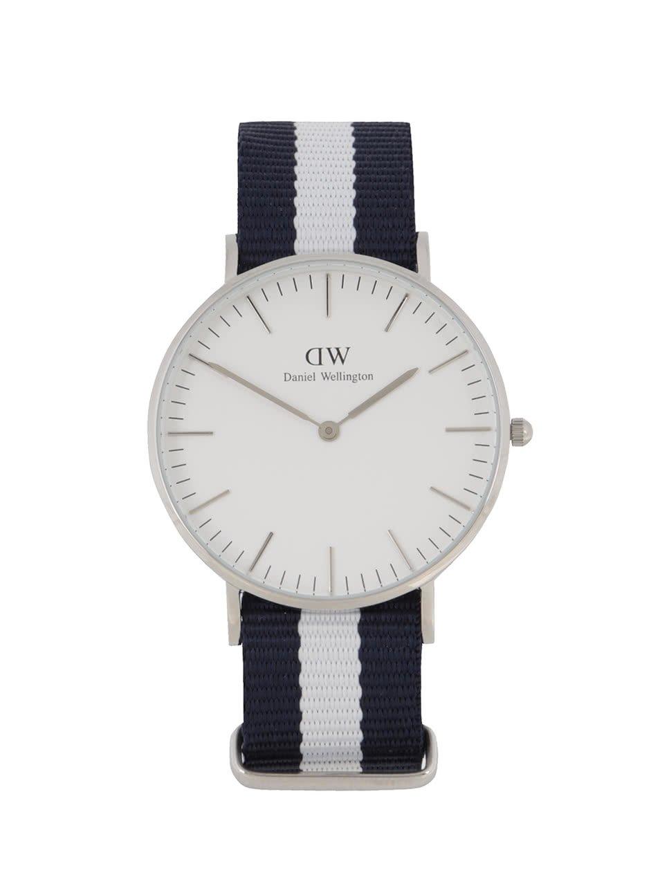 D�msk� hodinky ve st?�brn� barv? CLASSIC Glasgow Daniel Wellington