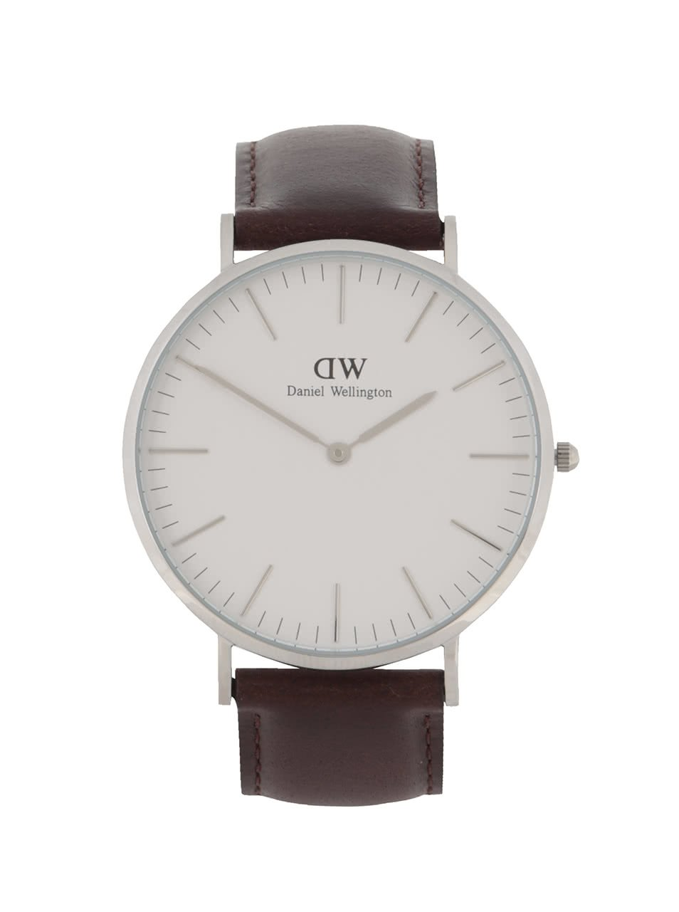 P�nsk� hodinky ve st?�brn� barv? CLASSIC Bristol Daniel Wellington