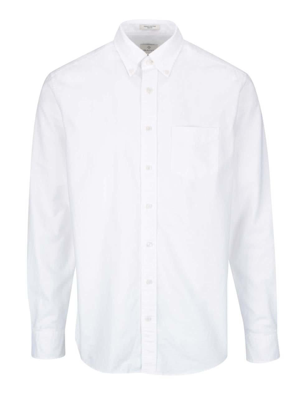 Bílá pánská neformální košile GANT