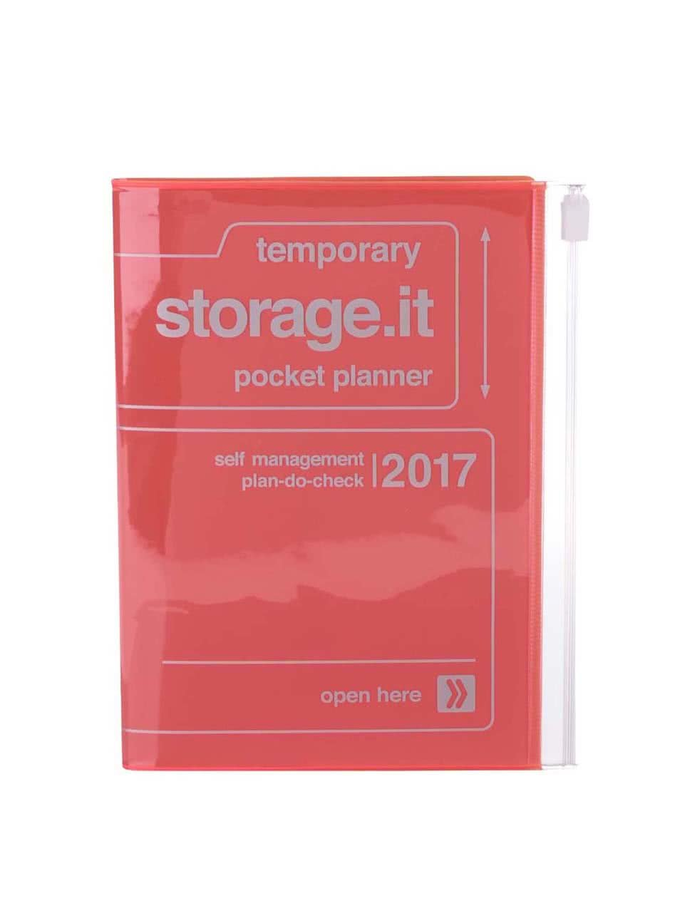 Oranžový diář 2017 A6 Mark's STORAGE IT.