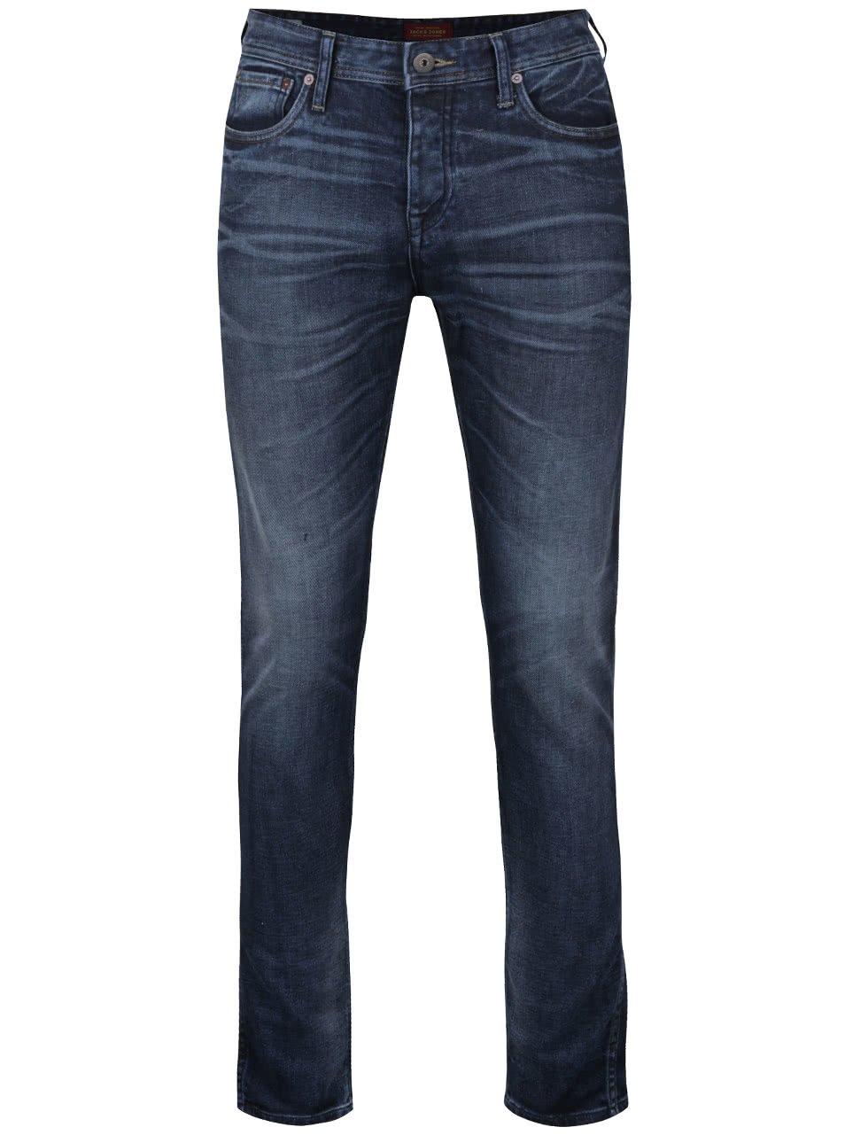 Modré pánské džíny Jack & Jones
