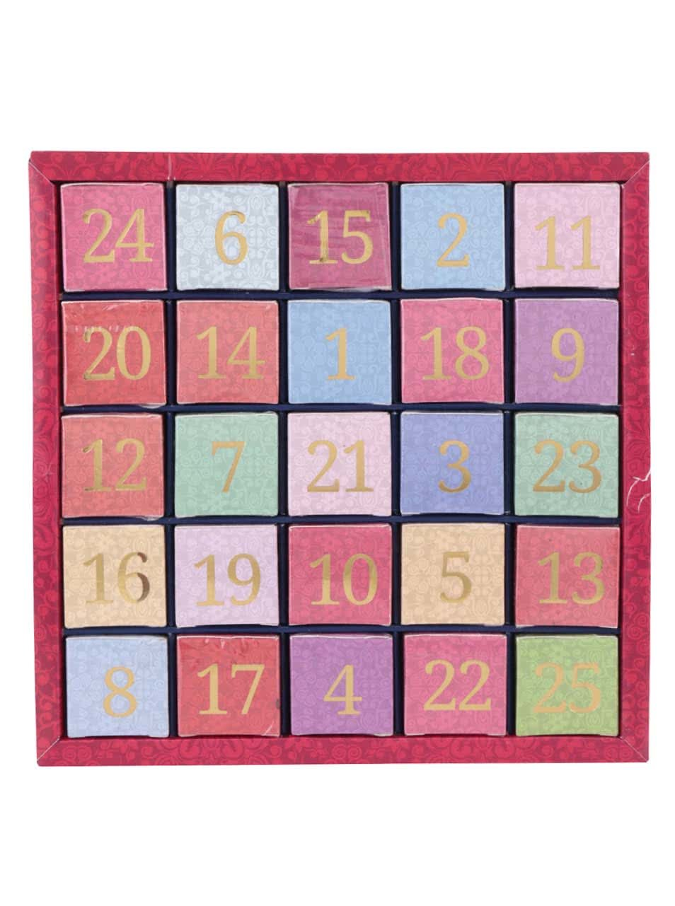 Barevný číselný adventní kalendář z čajů English Tea Shop